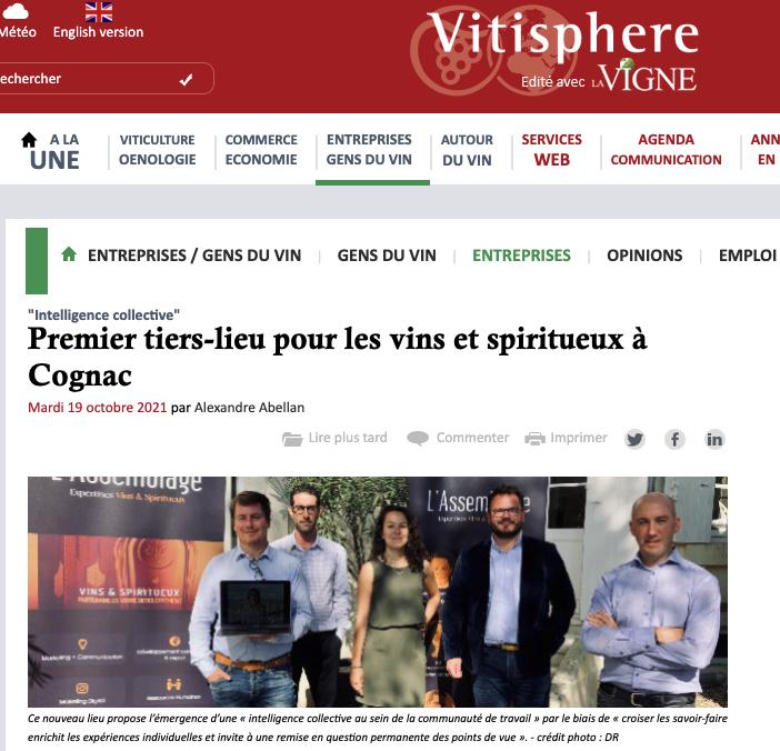 Premier tiers-lieu pour les vins et spiritueux à Cognac